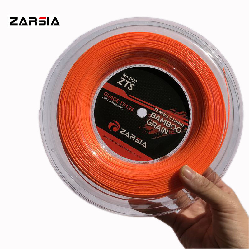 2018 ZARSIA Bamboo polyester tennis strings POLY tennis racket strings 200m spinning Tennis strings 1.25mm 17G (orange) zarsia 200m flash nylon tennis string 16g 1 35mm multifilamen tennis rackets string squash strings synthetic tennis strings