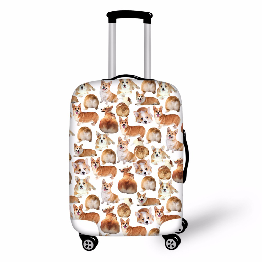 Elastic Luggage Protective Cover For 18-30Trolley Suitcase Protect Dust Bag Case Pug Dog ...