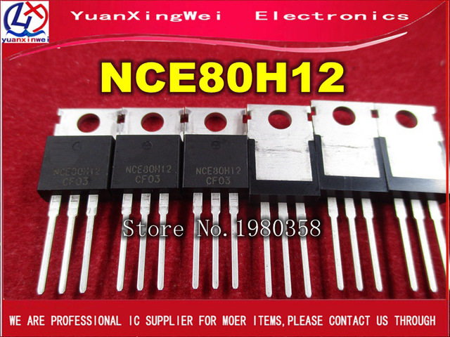 10 unids/lote NCE80H12 80V 120A n canal MOS FET tubo