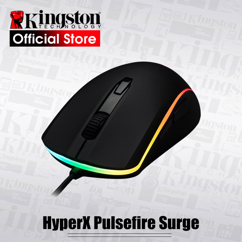 Kingston E-sports mouse Pulsefire Surge RGB Gaming Mouse Pixart 3389 sensor wired mouse Omron switch DPI is accurate to 16000 e 3lue ems109 wired gaming mouse white