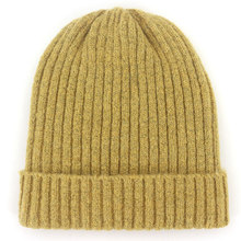 7bd90afc9b5bd Unisex Wool Blend Striped Knit Beanie Hats for Women Men Winter Warm Ski Cap  Grey Navy