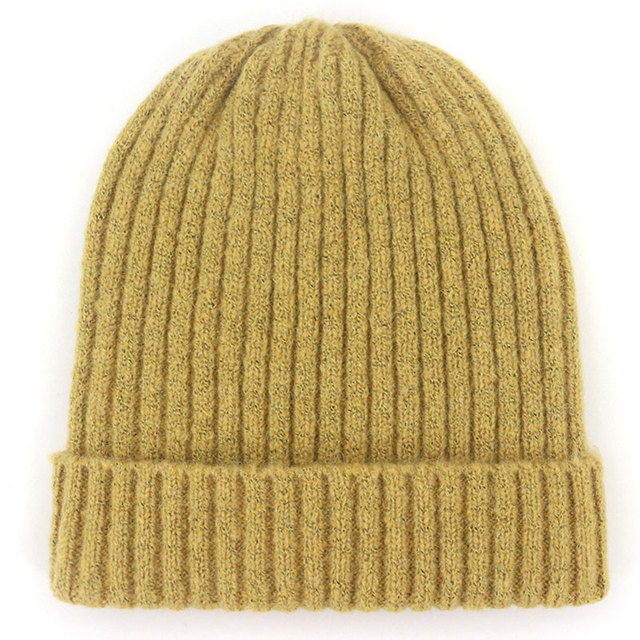 da335b5ce3c86 Unisex Wool Blend Striped Knit Beanie Hats for Women Men Winter Warm Ski  Cap Grey Navy Khaki Black Fuchsia Blue Dark Yellow Red