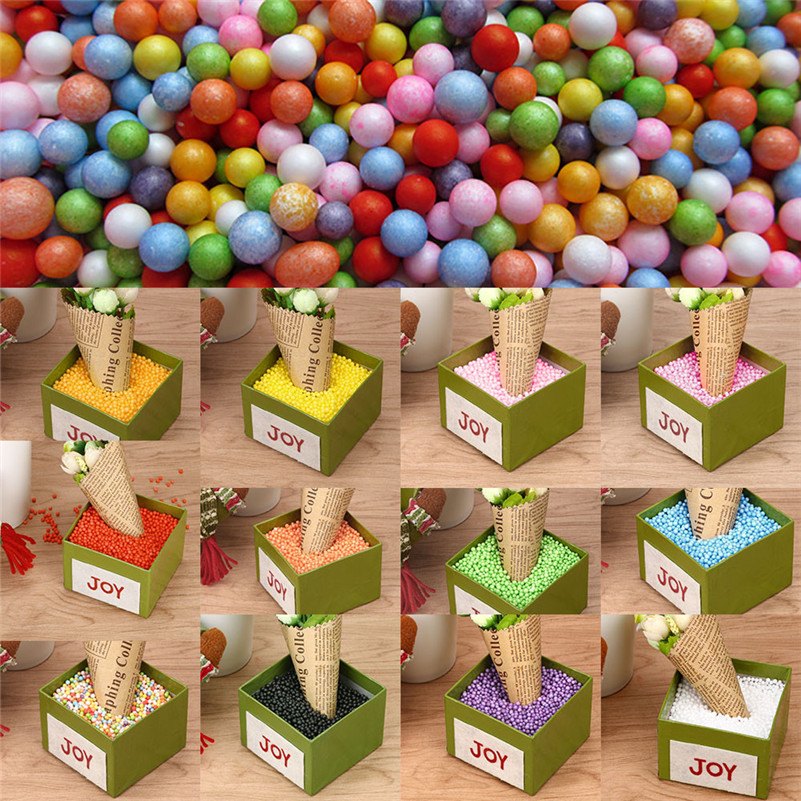 fashion Lots Assorted Colors Crafts Polystyrene Styrofoam Filler Foam Mini Beads Balls
