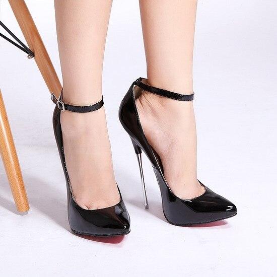 Italian designs 16cm Party high heels Women Sexy Pumps Shoes for ladies Thin Heels Pumps italian visual phrase book