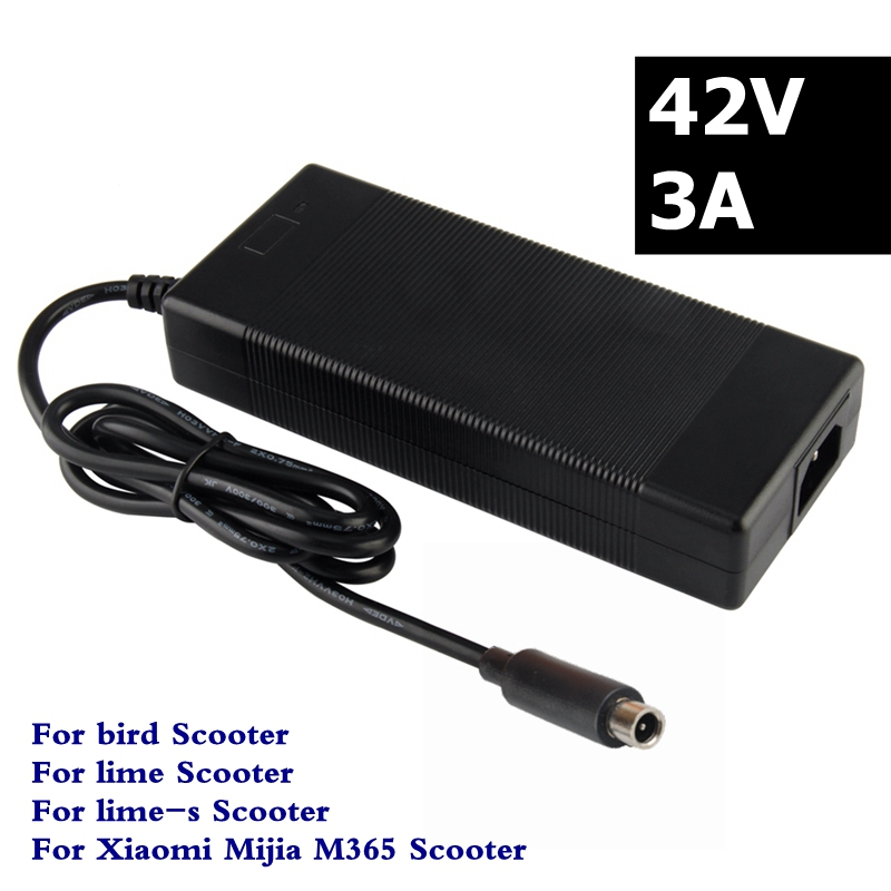 42V 3A Scooter Charger For Xiaomi Mijia M365 Ninebot Es1 Es2 bird lime lime-s Electric Scooter Battery Charger 126 watt42V 3A Scooter Charger For Xiaomi Mijia M365 Ninebot Es1 Es2 bird lime lime-s Electric Scooter Battery Charger 126 watt