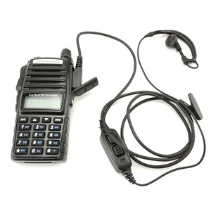 Image 2 - Baofeng UV 82 2 Pin Walkie Talkie Earphone Dual PTT Earpiece Baofeng UV 82HP UV 82XH UV 8D DMR CB Radio Ecouteur Headset