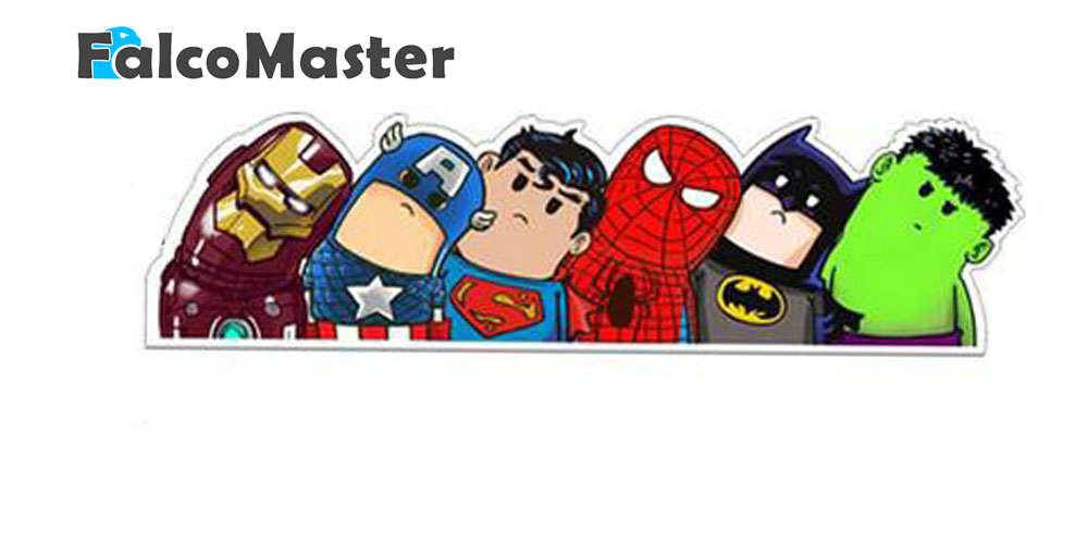 New Superheroes Lovely Reflective Car Stickers Heads Avengers Decorative Art Car AVENGERS Vinyl Cartoon Sticker
