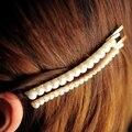 Sencilla horquilla de la perla coreana borde pasador de los accesorios de la tirada