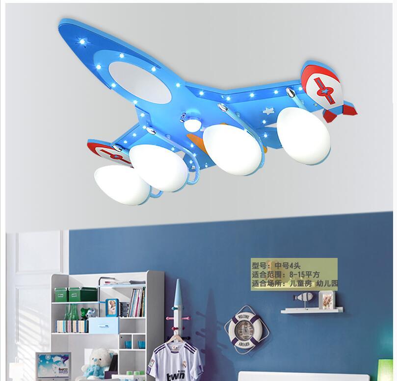 Children Bedroom Ceiling Light Smart Plane Design Eye-protective LED Ceiling Lamp Blue Plane Decorative Lights Remote Controller