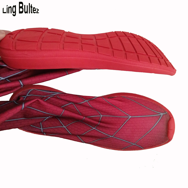 Ling Bultez High Quality Red Spiderman Soles Hero Spiderman Shoes In Red Only shoes No Legs Included