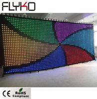 10ft x 23ft commercial advertising display led Dj stage vision curtain P9