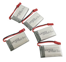 BLK / RC Model helicopter battery 5PCS 3.7V 800mah MJX X400 X800 X300C X500 four-axis aircraft battery accessories