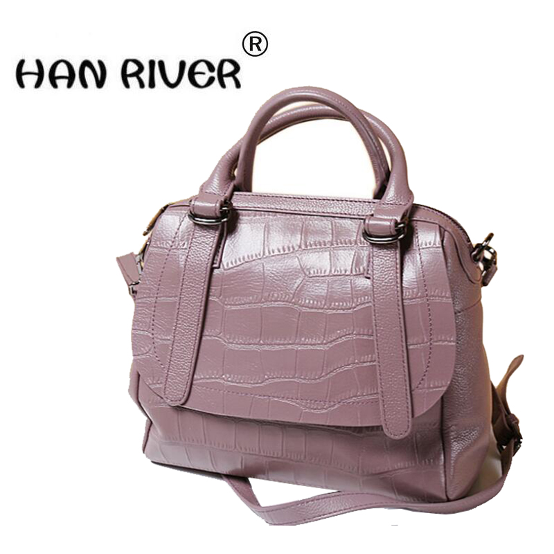 European and American commutes with alligator-skin pillow slanted leather handbagEuropean and American commutes with alligator-skin pillow slanted leather handbag