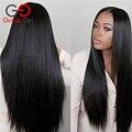 Gossip Girl 7А Перуанский Полный Парик Шнурка Человеческих Волос парики Для Чернокожих Женщин Прямо Кружево Фронтальной Парик С Ребенком Волос