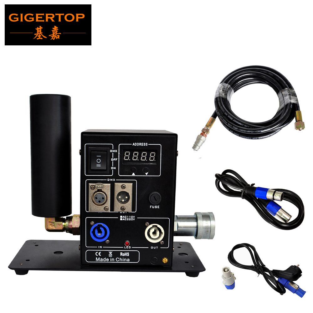 TIPTOP Stage Light 2016 New Digital 200W Single Pipe Co2 Jet Machine Power DMX IN OUT