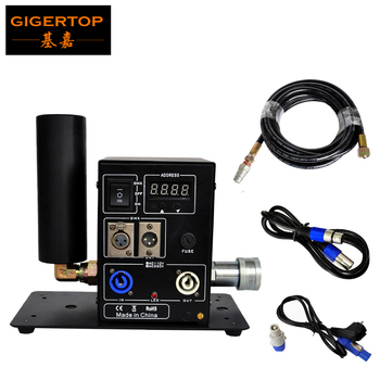 TIPTOP Stage Light New Digital 200W Single Pipe Co2 Jet Machine Power DMX IN/OUT Lockable Aviation Power Plug LCD Screen Display