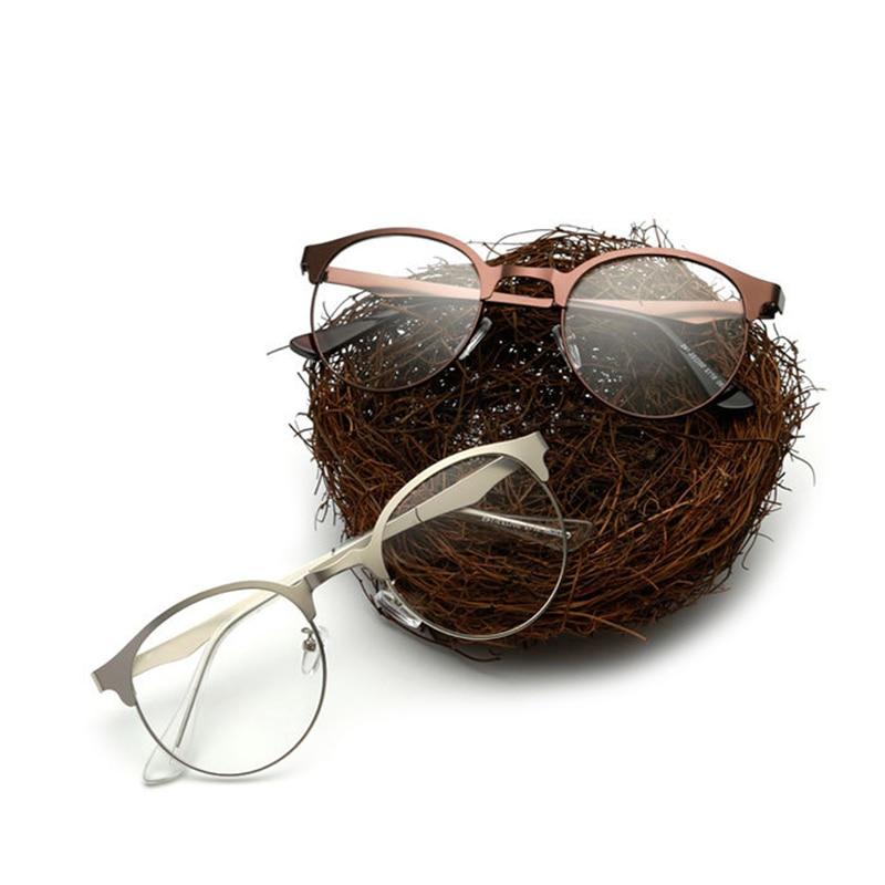 Fashion Optical Glasses Eyeglass Frame Men Women Vintage Spectacles Clear Metal