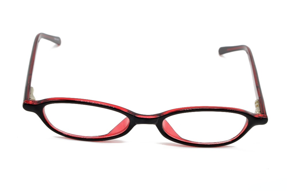 TOP PLATE ULTRA NARROW DARK RED LADIES GLASSES FRAME CUSTOM MADE ...