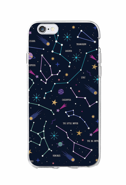 Outer Space Planet Stars Moon Soft Clear Phone Case For iPhone 7 7Plus 6 6S 6Plus 5 5S SE 5C SAMSUNG