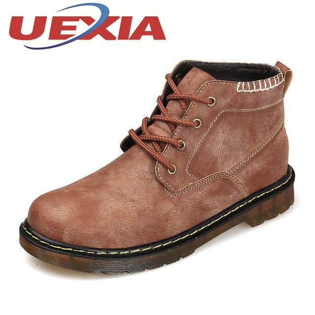 f3655585d9 Hombres Botas de Trabajo Informal de Cuero de La Pu Felpa Botines Para Hombre  botas de