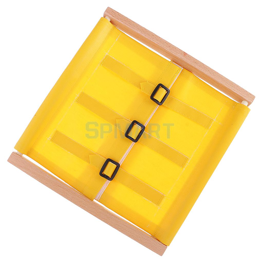 3pcs Wooden Montessori Early Learning Educational Materials DIY Small Buttons Dressing Frame Kids Christmas Gifts
