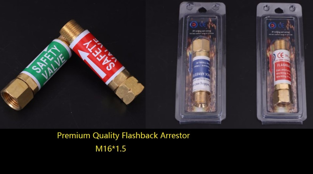 Flashback Arrestor Premium Oxygen Acetylene Check Valve Flame Buster M16*1.5 For Pressure Reducer Regulator Gas Cutting Torch  free shipping jwdox 1 oxygen pressure reducer oxygen gas regulator o2 regaultor
