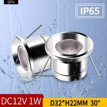 Refletor de teto para banheiro IP65 externo à prova d'água gabinete embutido luz LED redonda com foco DC12V mini refletor embutido pequeno