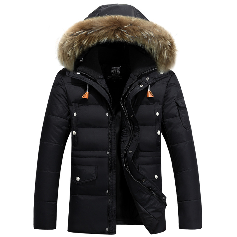 new trend white duck down jacket parka homme fourrure capuche 2017 winter fashion fur hooded. Black Bedroom Furniture Sets. Home Design Ideas