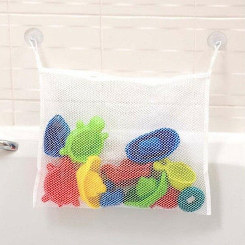 LKQBBSZ Baby Toy Mesh Storage Bag Bath Bathtub Doll Organizer Suction Bathroom Stuff Net