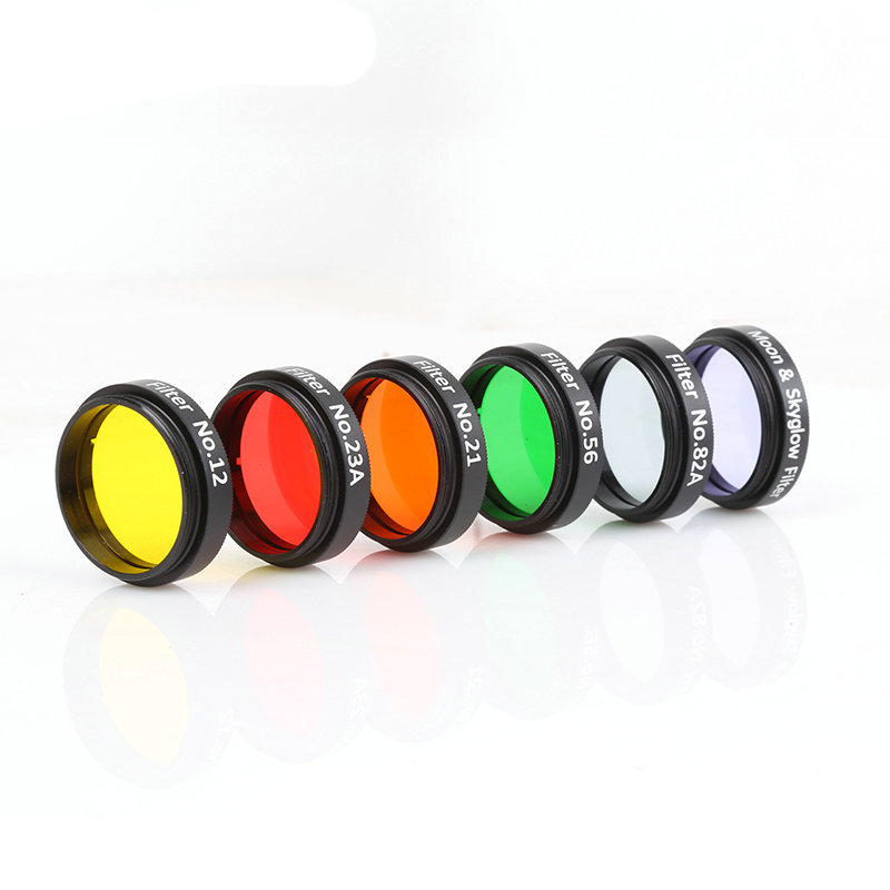 6 PCS LOT Eyepiece Filter Astronomical Telescopes Ocular Lens Planets And Nebula Filter Moon Skyglow 6