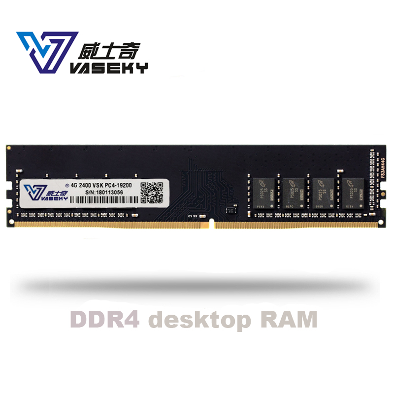 Vaseky 4 GB GB 4G 8 8G 16 GB PC Desktop Do Computador do Módulo de Memória RAM Memoria PC4 DDR4 2133 2400 2400 MHZ 2133 MHZ 2666 MHZ 16G RAM
