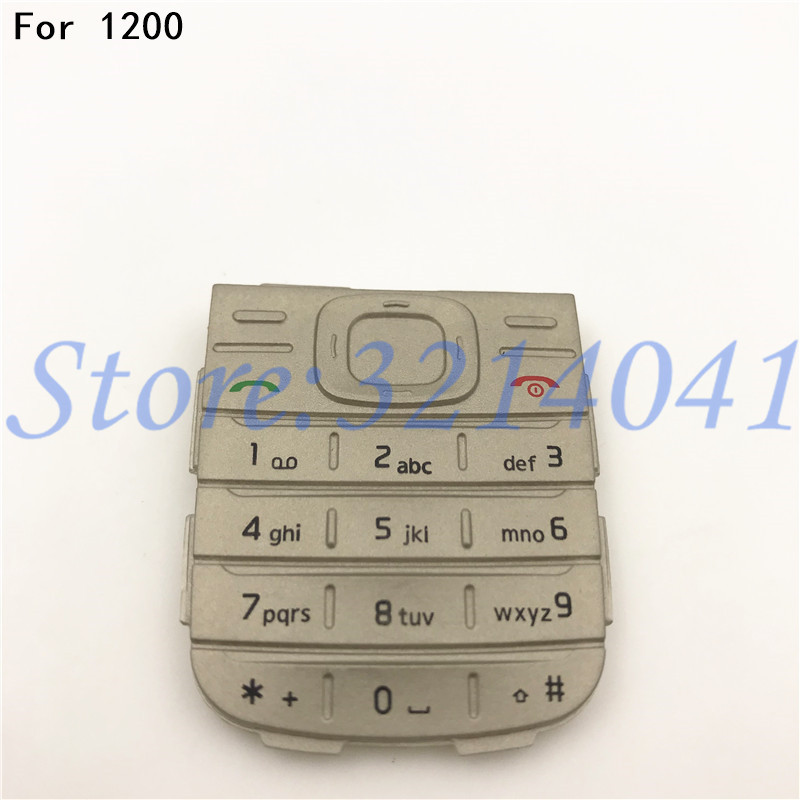 Original New Main Menu English Keypad Keyboard Buttons Cover Case For <font><b>Nokia</b></font> 1200 <font><b>1208</b></font> image