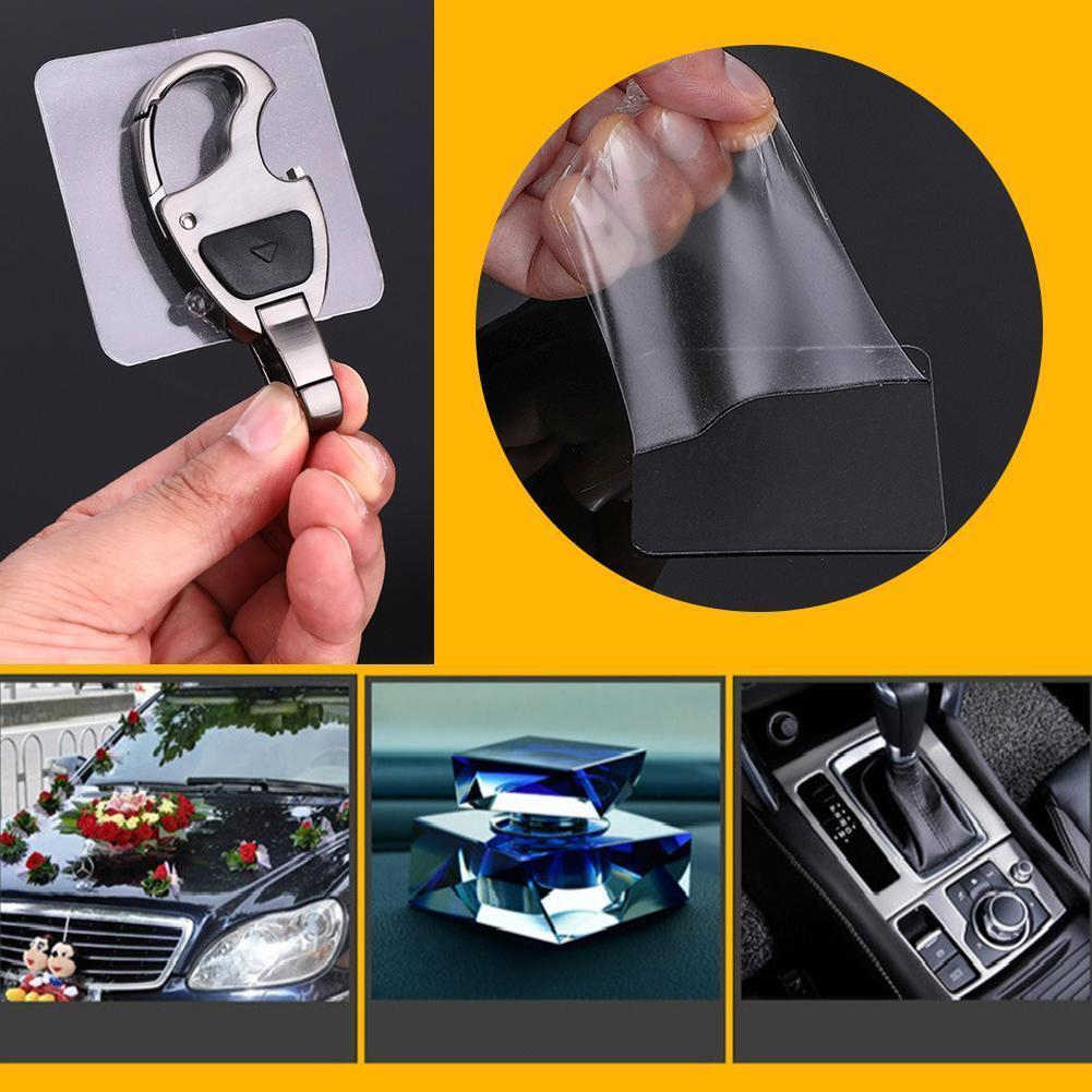 70pcs Double Side Solid Photo Frame Sticker Acrylic Clear Adhesive Car Holder Mirror Reusable Traceless Wall Table Antislip Pad