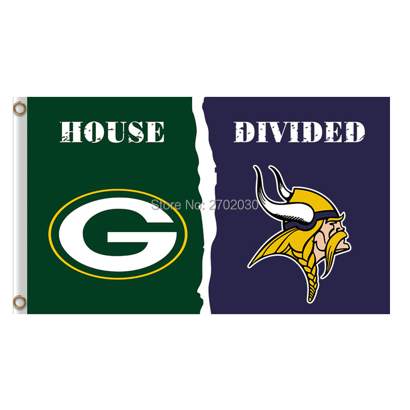 Green Bay Packers Flagge Vs Minnesota Vikings Banner Sport Fußball Team Fahnen 3x5 Ft Super Bowl Champions Banner