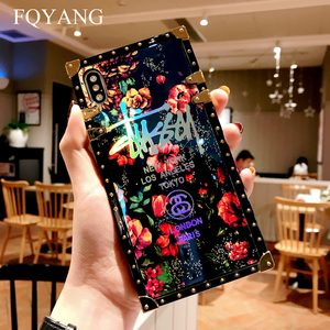 Image 3 - FQYANG Luxury Square Blu Ray Rose Phone Case For SAMSUNG S10 PLUS S8 S9 S10LITE Flower Cases For SAMSUNG NOTE 9 8 With Lanyard