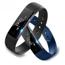 ID115 Inteligente Pulsera Banda de Paso Contador de Fitness Reloj de Alarma de Vibración Pulsera SmartBand pk ID107 poco ajuste miband2 Reloj Corazón