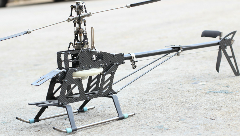 RC Remote 6ch 3D Helicopter 450 SE V2 6ch Kit Carbon Fiber For Align Trex Heli