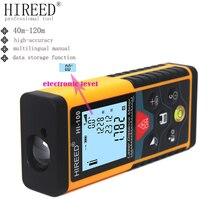 HIREED 40M 100M 80M electronic level Handheld Rangefinder Laser Distance Meter Digital Laser Range Finder Tape Measure Tester