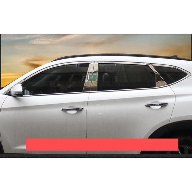 Lsrtw2017 garnitures de vitres de voiture | En acier inoxydable 304 pour hyundai tucson 2016 2017 2018 3rd génération