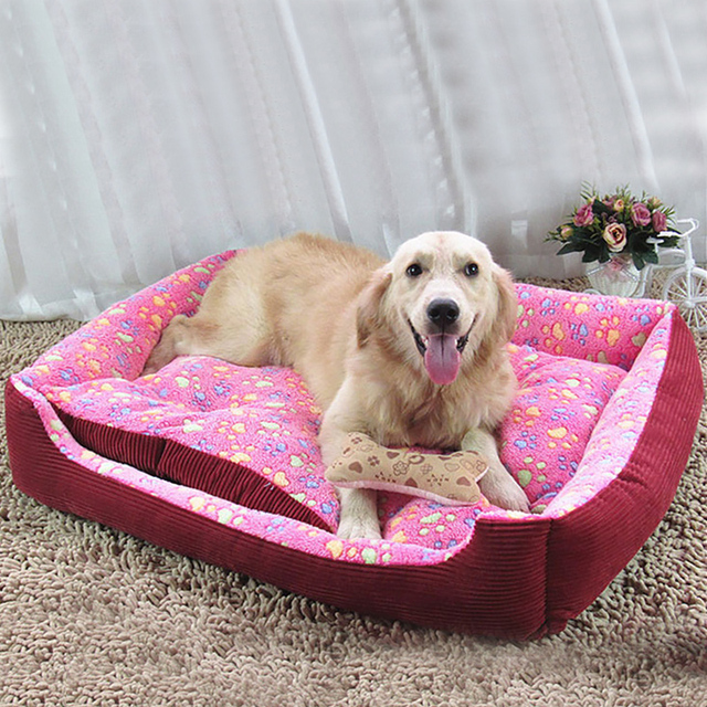 Fine Joy Pet Dog Bed Warming Dog House Soft Material Pet Nest Dog Warm Nest Kennel For Large Dogs Sleeping Puppy Beds Mat