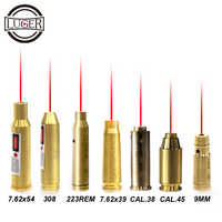 LUGER Red Dot Laser Messing Boresight 7,62x39 7,62x54 9MM CAL.38 223REM 308 Cartridge Bore Sighter für Jagd Zielfernrohr