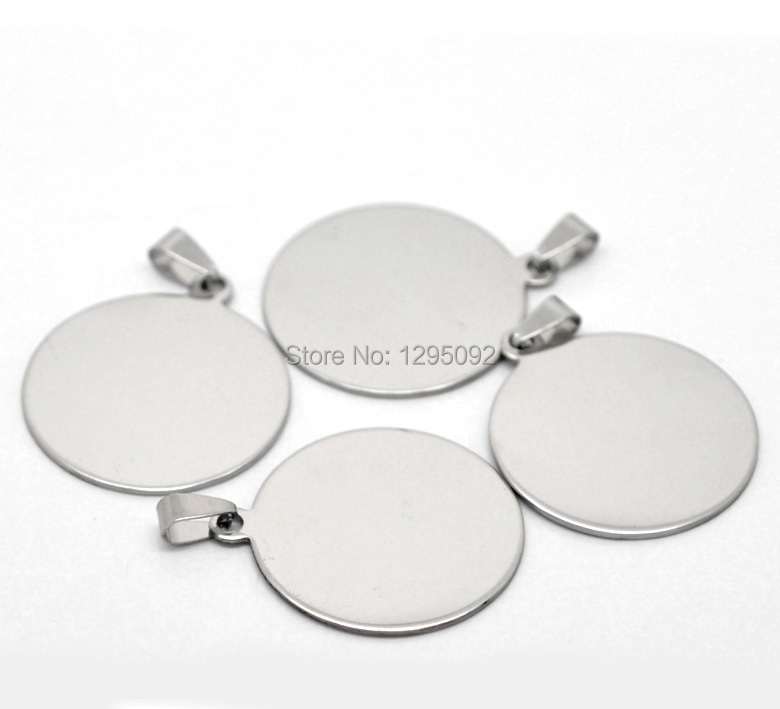 10 Pcs Free shipping Hot New DIY Silver Tone Blank Stamping Tags Pendants Component 4.6x3.4cm(1 6/8x1 3/8)
