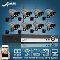 3 TB HDD Onvif 8CH H.264 NVR Sistema de CCTV 1080 P 2.0 Megapixel 25fps full hd sony coms câmera ip de rede wi-fi sem fio à prova d' água