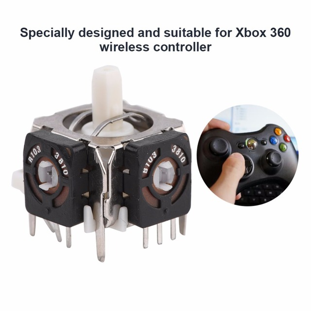 High Quality 5 Pcs Analog Stick 3D Joystick Replacement for Xbox 360 Wireless Controller