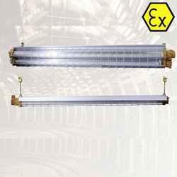 ATEX explosion proof linear LED light 0.6m 1.2m with dual T8 LED tubes