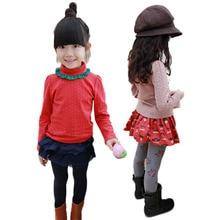 Newborn Kid Child Girl Flower Rim Turtleneck Tops Shirt T-Shirt Baby Outfits Hot 5