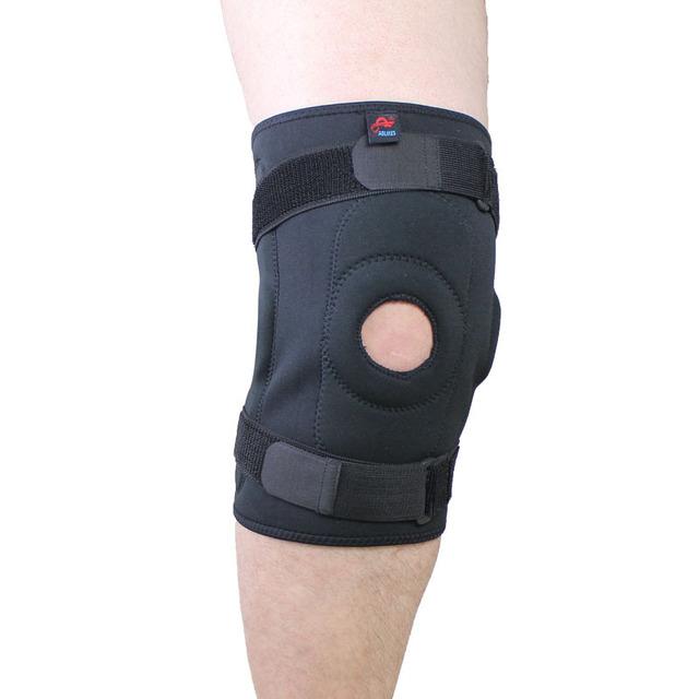 Cuidados de saúde Ajustável Articulada Knee Brace Patella Compressão Do Joelho Suporta Alívio para basquetebol voleibol Joelheira