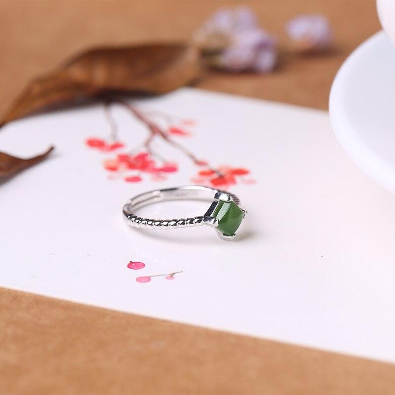 2019 ограниченное по времени ограниченное количество Anel Masculino Anel натуральное кольцо для женщин 925 Стерлинговое открытие Hetian Gem женские Символ... - 4