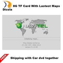 WinCE Android OS 8 ГБ GPS Географические карты Micro SD карты для автомобиля dvd-плеер Россия Беларусь Портативный навигатор высококачественного металла покрытие чип