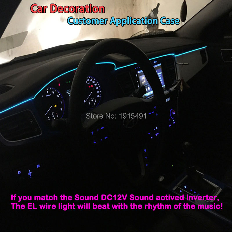 Elastyczny pasek LED Neon 5,0mm z drutu EL Pasek nici 10 kolorów - Oświetlenie LED - Zdjęcie 6